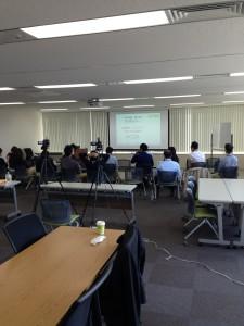 WordPressマスター塾・第1期・1回目セミナーの様子(講師:三宅巧一)