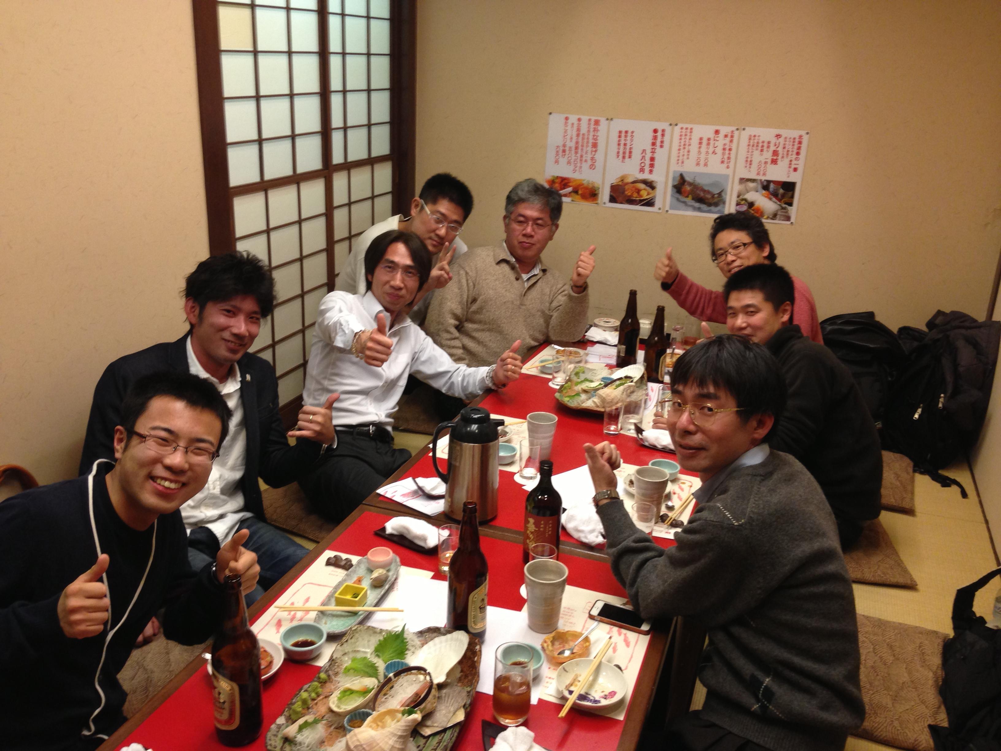 AWBM塾・体験セミナー後の懇親会(講師:三宅巧一)